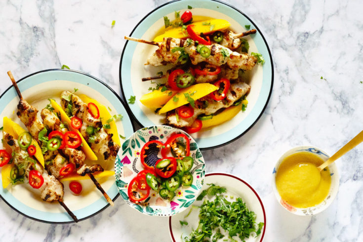 Grilled Chicken with Mango and Tahini Sauce