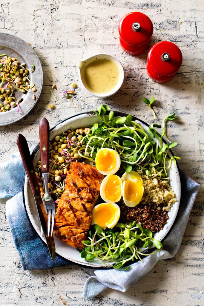 Grilled Salmon Bowl