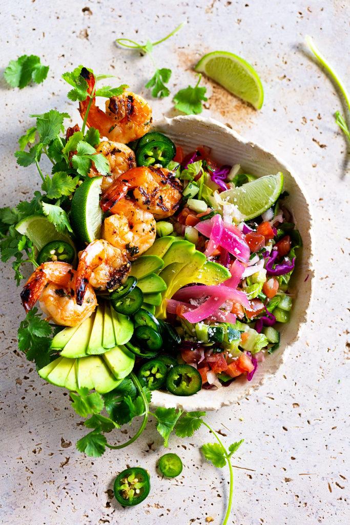 Grilled Shrimp Taco Bowls