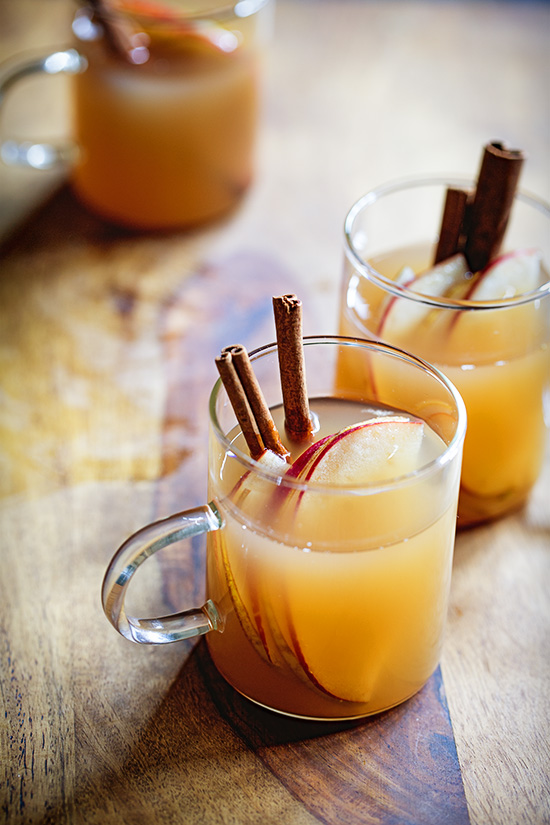 Hot Apple Cider with Buttered Rum