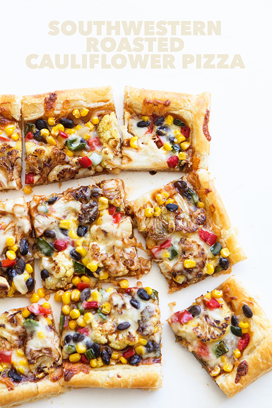 Southwestern Roasted Cauliflower Pizza