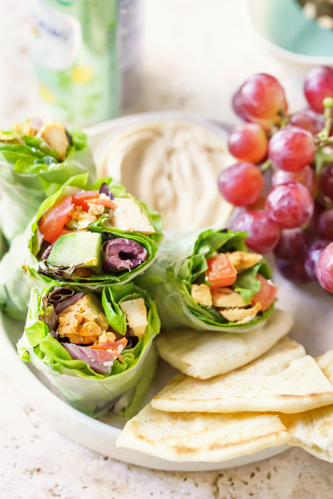 Mediterranean Greek Salad Wraps