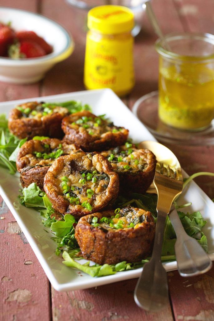 Mini Mushroom and Spinach Quiche