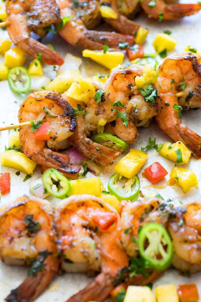 Pan Seared Shrimp with Mango Salsa