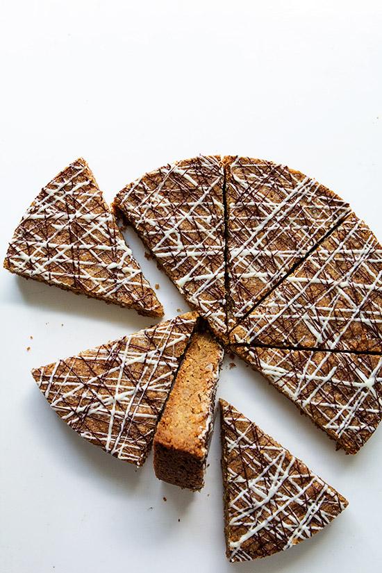 Pecan, Coconut and Brown Sugar Shortbread Cookies