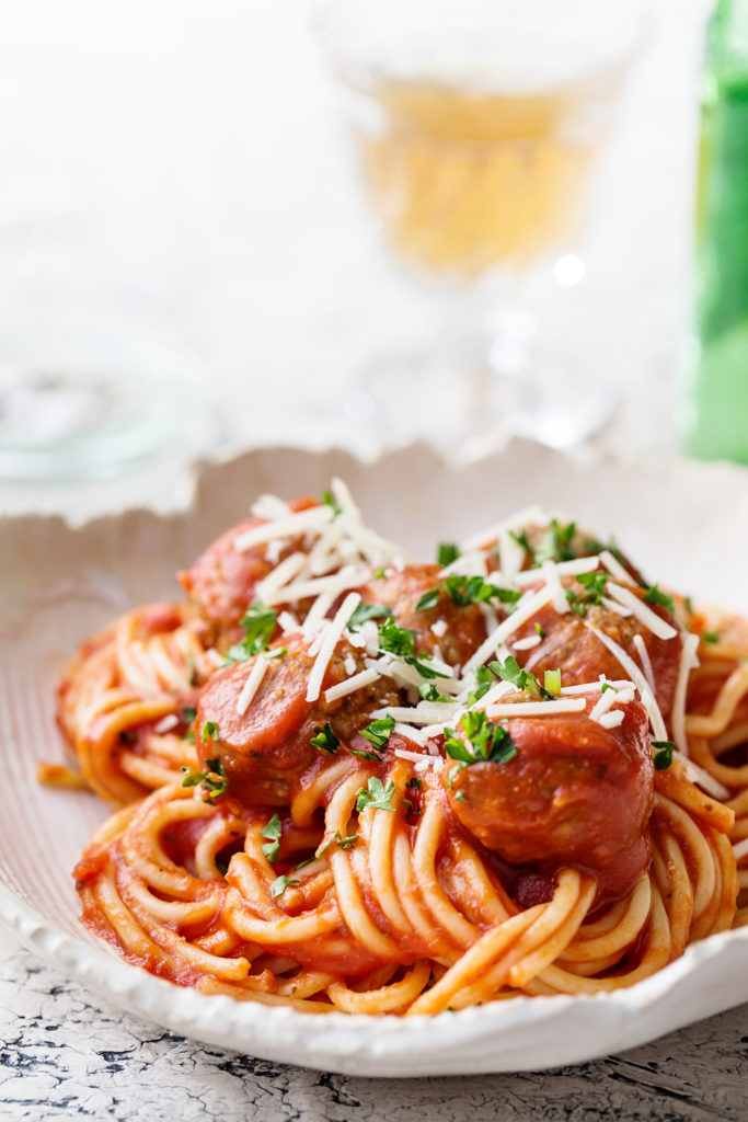 Slow Cooker Spaghetti and Meatbals