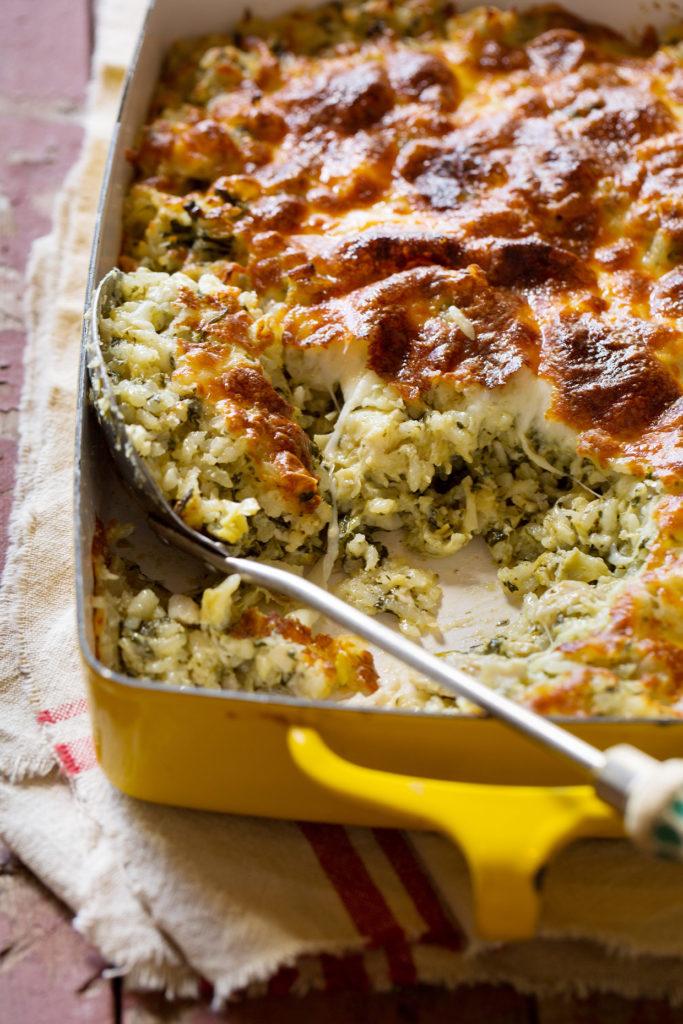 Spinach and Artichoke Rice Casserole