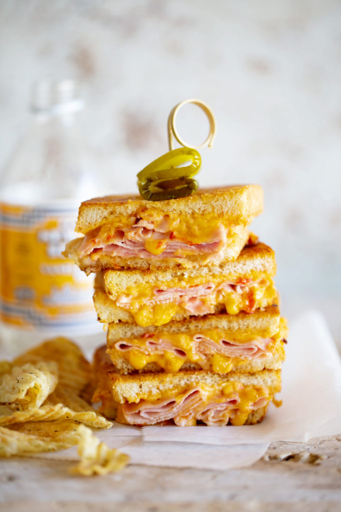 Grilled Pimento Cheese and Ham Melt