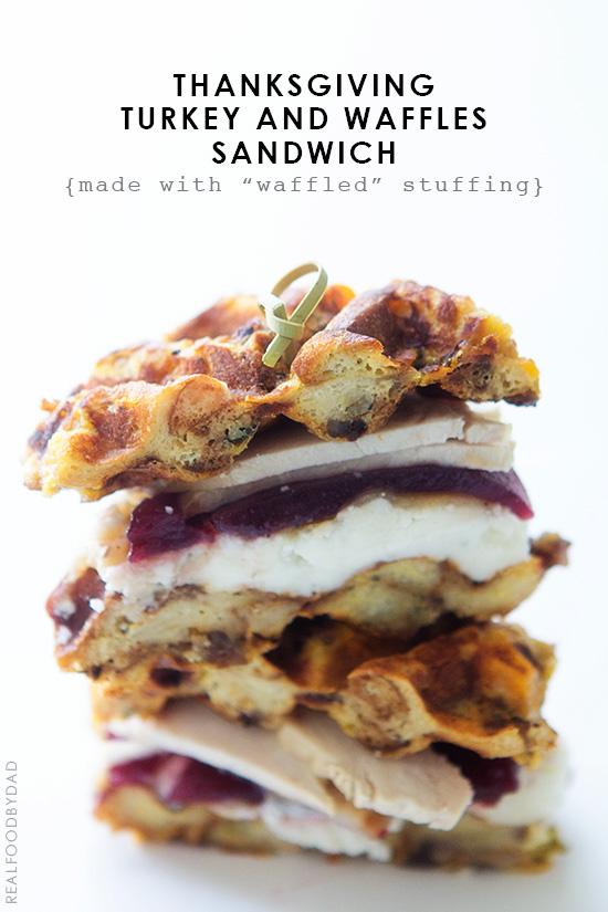 Waffles and Turkey {that's waffled stuffing!}