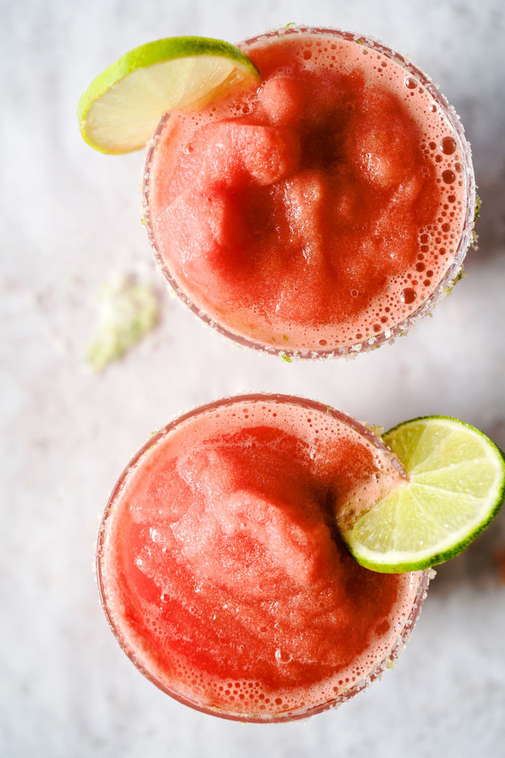 Spicy Frozen Watermelon Margarita