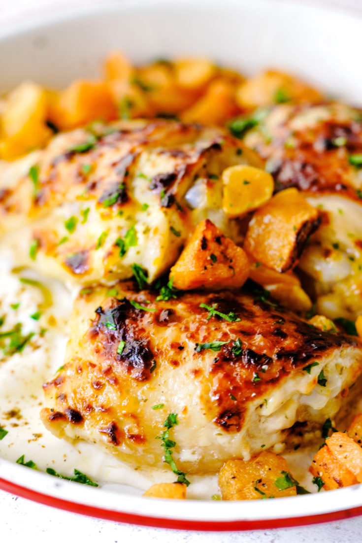 Roasted Za'atar Chicken with Butternut Squash