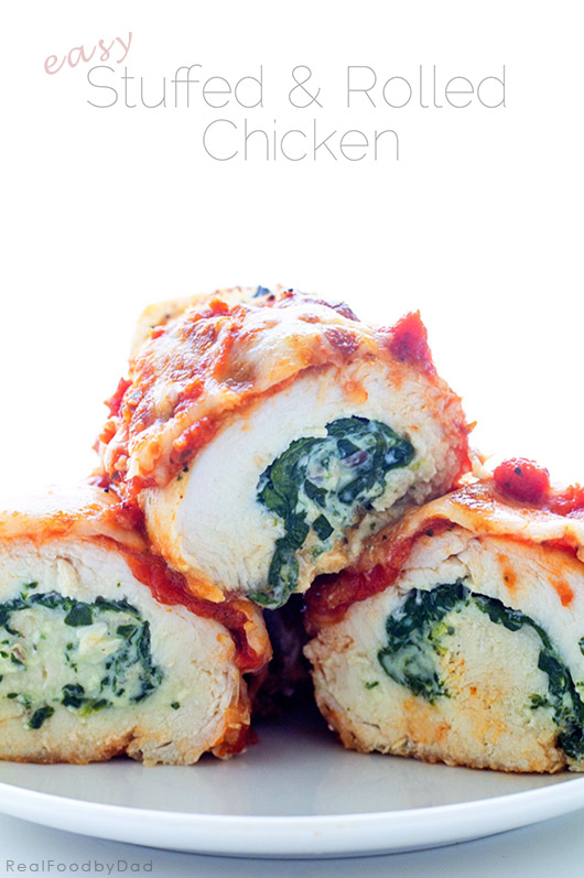 Easy Baked Stuffed Rolled Chicken