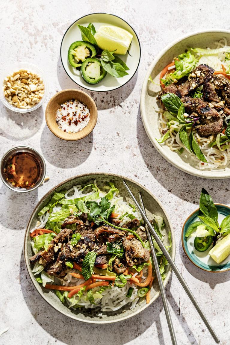 Grilled Vietnames Pork Bowl